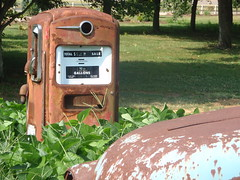 rusty pump and truck