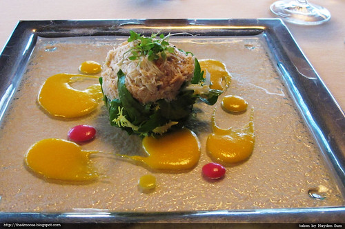 Forlino - Crab Salad with Wild Rucola, Sweet Pea Leaves and Cantaloupe