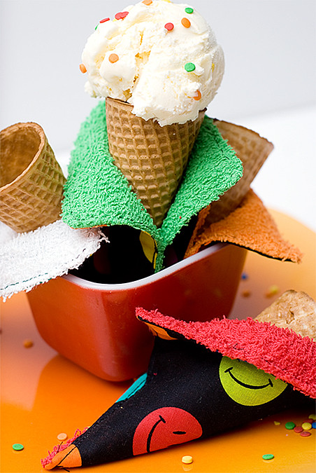 ice cream party cone cozy for Fiskars