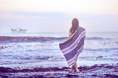 (KateB.) Tags: ocean sunset summer woman seaweed beach pretty waves blanket