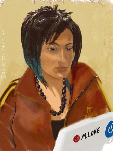iPad Portrait of Shaherose Charania at Women 2.0 Labs by DNSF David Newman