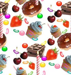 Birthday Party Wallpaper (crayonmonkey) Tags: birthday party wallpaper cake cherry chocolate background doughnut sweets vector candlestrawberry