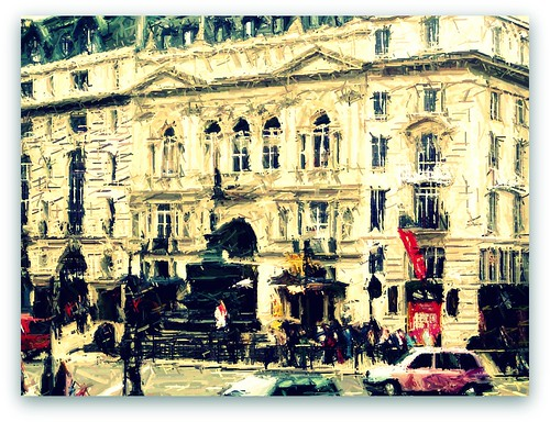 london corner colored pencil