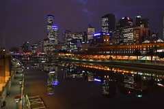 Mirror Reflection (kth517) Tags: reflection nightshot australia melbourne   yarrariver