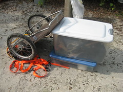 our gear and bike trailer