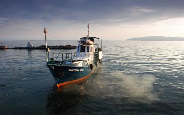 Boat on Lake Baikal