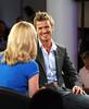 David Beckham und Moderatorin Gabby Logan II