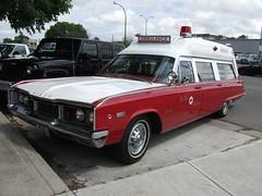 1968 Dodge Polara 500 Ambulance (dave_7) Tags: show street red car 5 ambulance dodge 1968 mopar 500 lethbridge wheelers 2010 polara showshine cbody lethbridgestreetwheelers nationalcoachworks