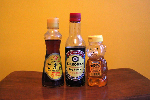9. sesame oil, soy sauce, honey