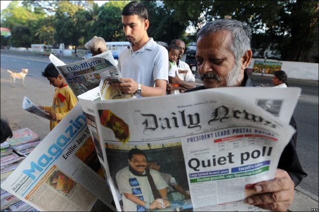 Sri Lanka President Mr Mahinda Rajapaksa Wins Election.