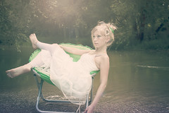 (Amy Renee) Tags: green water girl sparkles glitter female creek canon hair chair sara disk jewels gems