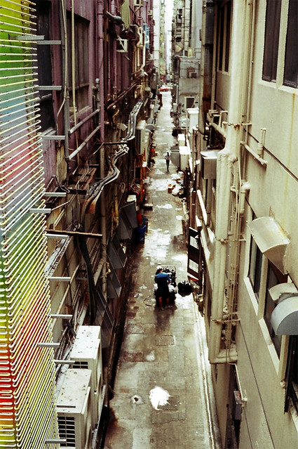 Wan Chai Alley with Olympus Trip