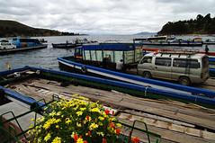 Strait of Tiquina (Gregor  Samsa) Tags: people lake cars titicaca car ferry bolivia strait tiquina straitoftiquina