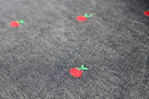 Denim apple skirt - fabric
