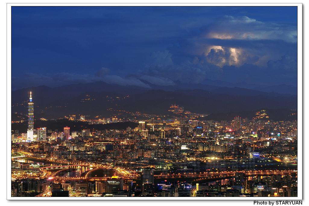 台北傍晚燈火燦爛 [2010/7/17]