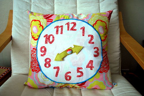 The Silly Pearl Clock Pillow
