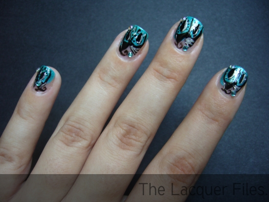 Nail Art Design Essence Stripers Black Silver Dottingtool Charlotte Russe Essie Silver Bullions China Glaze Towel Boy Toy