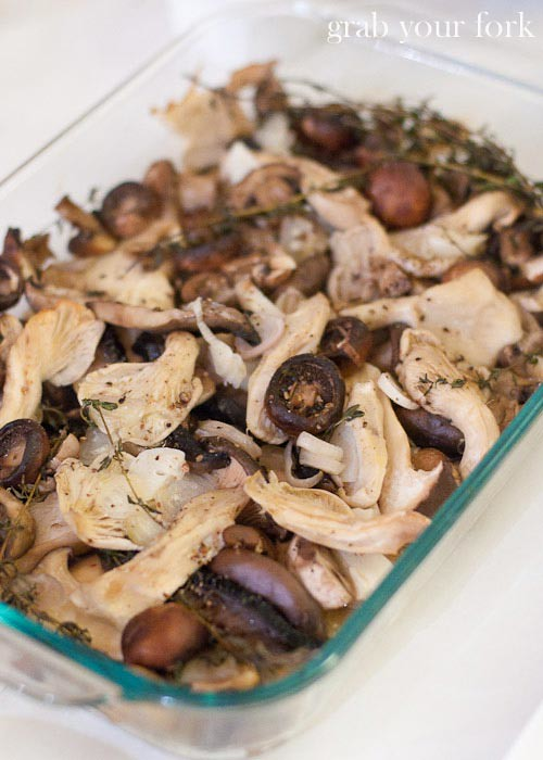 oven-roasted mushrooms