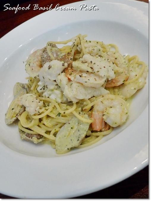 Seafood Basil Cream Pasta