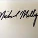 Michael Milligan Autograph