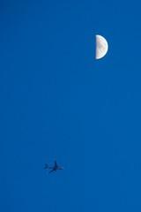 月のすぐ下で