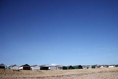 shoreham beach (pete.holmes) Tags: blue sky beach lines minimal huts 18 eighteen shorehambysea coastuk summertimeuk httpwwwphocusimagescouk gettyimagesuklocation welcomeuk