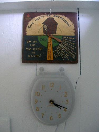 outhouse clock