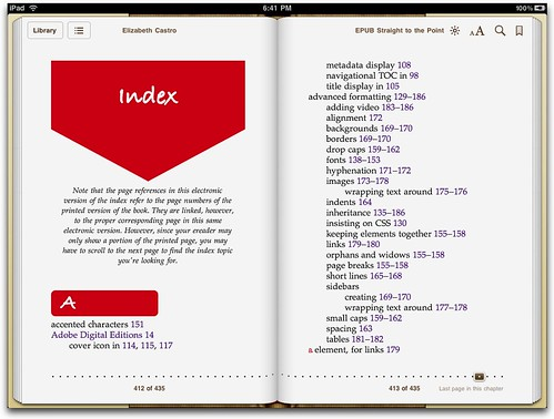 Index in EPUB