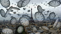 Paris Time (Harvey Schiller - chateauglenunga) Tags: city paris france tower clock st photo hands time random dial eiffel falling week nephews leigh pancras clocks happening 203 monkeywing