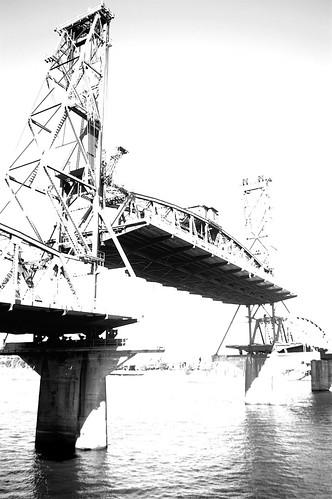 The Hawthorne bridge, wildly overexposed