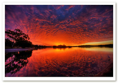 Magical sunset-2624 (Barbara J H) Tags: sunset clouds reflections bravo australia qld hdr sunsetclouds sunshinecoast redsunset cloudreflections chambersisland maroochydore photomatix maroochyriver sunsetreflections magicalsunset barbarajh