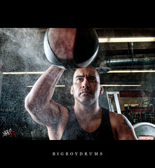 Misty Boxer.... (BigBoyDrums (www.hectorcruzphoto.com)) Tags: lighting man male sports muscles bag nikon lab bees alien dramatic gritty commercial boxer punching excercise pocket gym promotional campaign wizards d300 mma atletic strobist ab800 ab1600 sigma1850mm28 laboxing bigboydrums