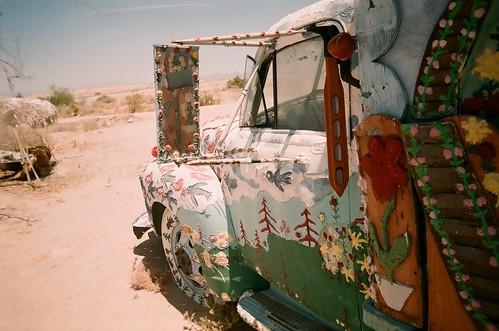 sun baked bible truck