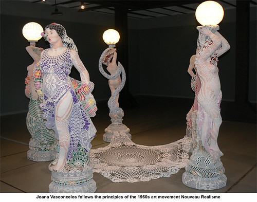 joana vasconcelos follows the principles of the 1960s art movement nouveau