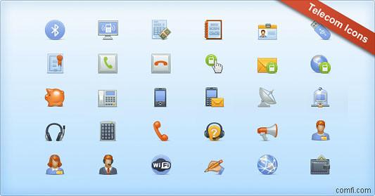 Telecom Icon Set