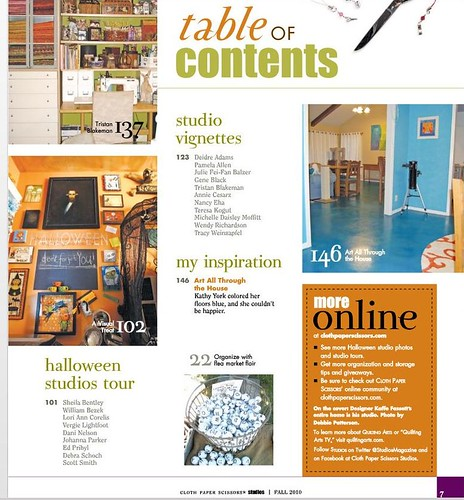 Table of Contents Preview of my feature in Studios Fall 2010