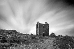 Enginehouse (Pensans) Tags: longexposure white mountain black clouds canon eos movement mine copper 30d anglesey enginehouse parys weldingglass