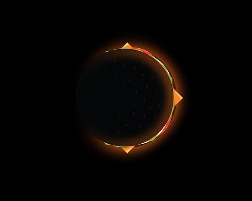 Burger Eclipse (vote at Threadless)