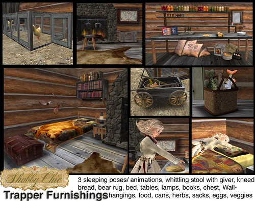 Shabby Chic Trappers Cabin Furnishings - 28 items