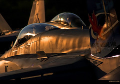 Golden Bugs (~Clubber~) Tags: canon airplane flying quebec aircraft aviation flight airshow rhino hornet quebeccity goldenhour cf18 superhornet fa18ef