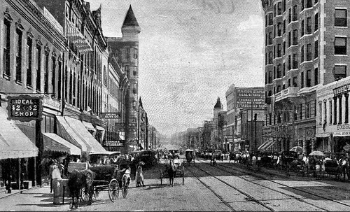 Joplin Main Street scene from after 1908