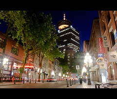Gastown (zyork_) Tags: longexposure nightphotography night vancouver canon project photography rebel long exposure downtown 365 xs gastown project365 vancouveratnight 1000d canon1000d