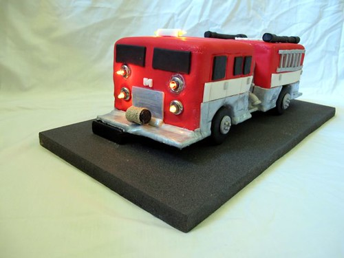 fire truck cake front profile