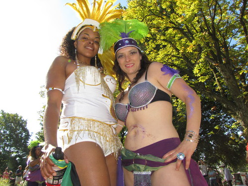 Two lovely ladies at parade, Caribbean Days Festival 2010 African, Trinidad & Tobago, Jamaica and West Indies Celebration