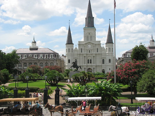 Jackson Square with perfect clouds