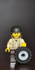 Well scaled jeep/kübelwagen tire (The Ranger of Awesomeness) Tags: lego wwii operation 2010 brickarms operationbricklord legolegolego bricklord europeatwar