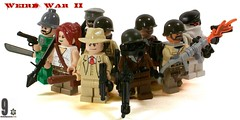 Weird War II Allies (*Nobodycares*) Tags: french lego wwii worldwarii ww2 soldiers guns flamethrower sas troops worldwar2 helmets allies partisans sanction brickarms aww2 sluban brickforge eigher weirdwarii weirdwar2 awwii