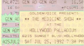 The Medicine Show, Hollywood Palladium