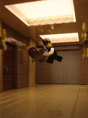 Inception (Profound Whatever) Tags: fight lego scene hallway gravity zero josephgordonlevitt inception christophernolan