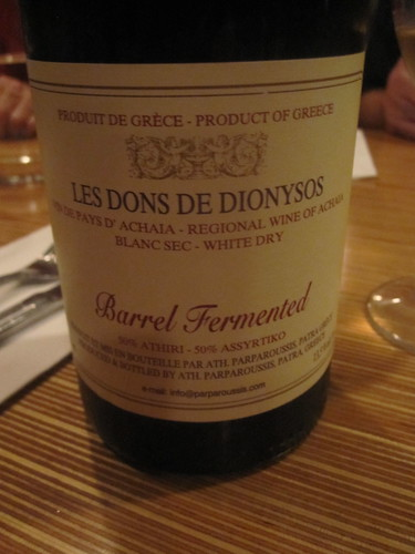 Les dons de Dionysos wine at Au 3 petits bouchons
